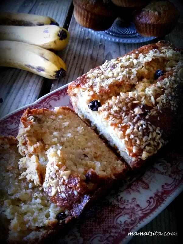κέικ μπανάνα μούσλι