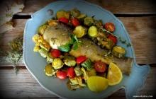 κολοκυθάκια με ψάρι